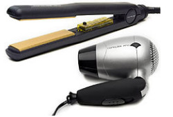 corioliss professional hair straightener - black with free hair dryer